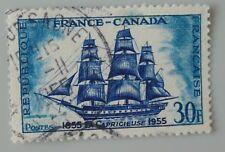 France 1955 1035 YT 1035 oblitéré frégate la capricieuse