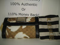 NEW L.A.M.B. Gwen Stefani Newcombe Icon Stencil Lamb Clutch Wallet Handbag Purse