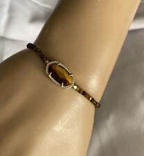 New Kendra Scott Elaina Brown Tigers Eye Adjustable Bracelet $75.00