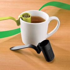 Shape Spoon Plastic Tea Infuser Strainer Herbal Spices Leaf Teaspoon Filter  CA