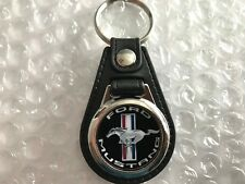FORD MUSTANG KEYCHAIN FOB RED WHITE BLUE BLACK & SILVER
