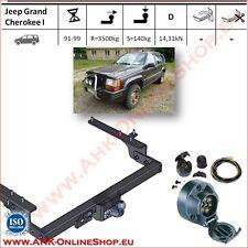 Gancio traino fisso Jeep Grand Cherokee 1991-1999 + kit elettrico 7-poli