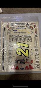Slixx 1/10 RC NASCAR Decal Sticker Set New #21 Motorcraft