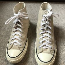 Mens size 9 Converse Chuck Taylor 70s HiTop Natural Suede