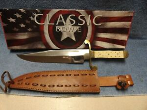 CLASSIC BOWIE p/n 203262 . Overall 15inch , bone handle. Nice knife at low start