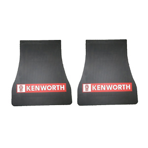 """2x KENWORTH STEER MUDFLAPS 13""""(t) 18""""(b)  X 20""""(l); MUD FLAP; MUDFLAP; Truck"""