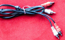 3' pair of RCA audio interconnects - left & right channel 3 ft. generic cables