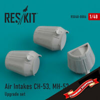ResKit RSU48-0006 Air Intakes CH-53, MH-53 (3 pcs) Upgrade set 1/48