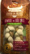 "Cadet Hide-a--Bull 7"" Stick Rawhide Braids for Dogs 2 Pack - Natural Chew"