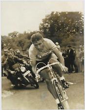 Jacques Anquetil Vintage silver print Tirage argentique  18x24  Circa 1963
