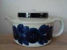2 pc Arabia Ulla Procopius 70-s Anémone Postwar café bleu tea pot Lock