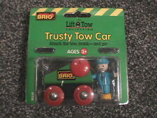 Brio Lift Tow Collection-Trusty Tow Car with figure-NEW-works with Thomas