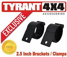 Isuzu MUX LST LSU 2.5 inch Black Brackets Clamps for Driving Lights Light Bar