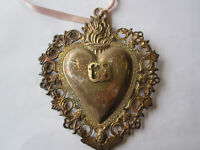 SOLLED SILVER EX VOTO OFF THE SACRED HEART