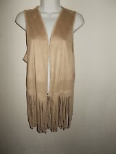 Southwest style Fringe vest with crochet trim New with tags Women's 14