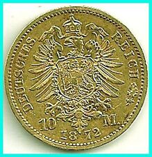 GERMANY - 1872 - A - GOLD 10 MARK - PREUSSEN  EX.FINE !! ,