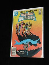 This is the Last Issue of BATMAN and the OUTSIDERS #32 April 1986 Mike W. Barr