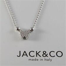 CATENA AD ANELLINI IN ARGENTO 925 JACK&CO CON FARFALLA CON ZIRCONIA JCN0525