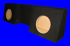 "DODGE RAM REGULAR CAB DUAL 12"" BUCKET SEAT BLACK SUBWOOFER SUB ENCLOSURE BOX"