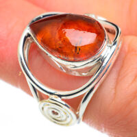 Baltic Amber 925 Sterling Silver Ring Size 5.75 Ana Co Jewelry R60272F