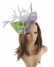 Lilac & Lime Green Fascinator Hat for weddings/ascot HEadband G3