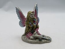 New Fantasy Mythical & Magic Masterworks Fine Pewter Fairy with Crystal Balls