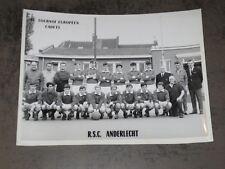 Football Photographie ancienne RSCA 13e Tournoi Européen Cadets 18 cm sur 24 cm