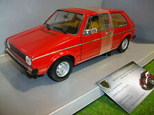 VOLKSWAGEN  GOLF 1 LS rouge échelle 1/18 VITESSE voiture miniature de collection