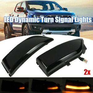 Dynamic LED Side Mirror Turn Signal Light For Ford Ranger T6 Raptor Everest 2015