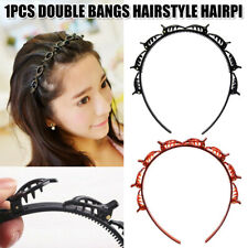 2x Double Bangs Hairstyle Hair Clips Bangs Hair Band Hairpin Headband With Clips