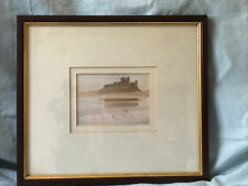 Framed Original watercolour Bamburgh Castle Signed Derek Jones