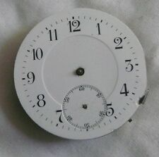 Movement Pocket Watch Enameld Dial - 42Mm - For Repair Or Parts - Swiss