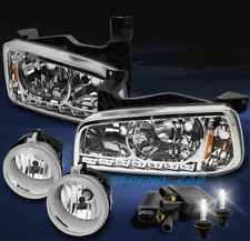 2006-2009 DODGE CHARGER DRL LED CHROME CRYSTAL HEAD LIGHTS W/DRIVING FOG+8K HID
