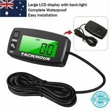 Searon Backlit Digital Tach Hour Meter Tachometer 2/4 Stroke Engines AU