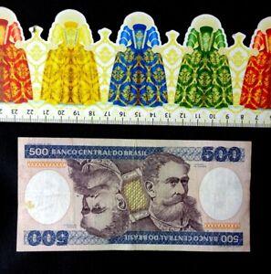 (ESP), BRASIL  , Billete de banco, 500 Cruzeiros.