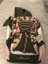 NWT Sideout Girls Pink Camo Backpack Full Size Free Shipping