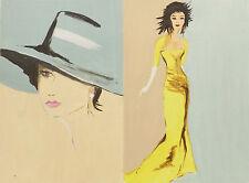 Originale künstlerische Malerein der Zeit 1950-1999 Art Deco - -