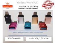 OTG Type-C To USB Adapter Female Data Connector Samsung S8 S9 Note 8 Note 9