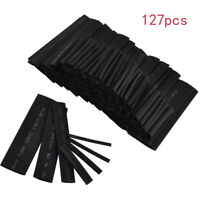127Pcs Car Electrical Cable Heat Shrink Tubing Wrap Sleeve 7 Sizes Assorted New