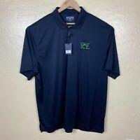 Level Wear Golf Polo Shirt Mens Size 3XL Black Performance New Sparkling Ice