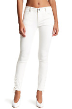 Romeo and Juliet white skinny lace up ankles jeans sz S