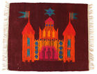 KRAKOW PSYCHEDELIC Vintage Hand Crafted Polish Textile Wall Hanging / Rug 70's