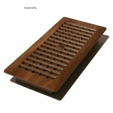 Decor Grates Plastic Floor Register  Mahogany Tan  4