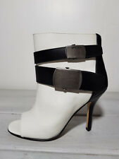 Neuf Diesel FEMMES Chaussures Taille 36, Us 6, 22.5 cm Joan Blanc/Noir Talons