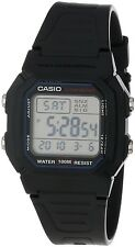 Casio W800H-1A Men's Resin Band 100M Snooze Alarm Chronograph Digital Watch
