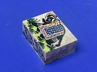 Marble Jewelry Box Elephant Design Art & Crafts Hand Painted For Home Decor Gift