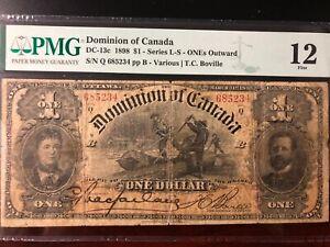 Dominion Of Canada 1 Dollar 1898 Q Series Very Rare In Fine Condition