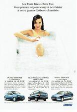 Publicité Advertising 037  2000   les Fiat Punto Palio Brava Estivale