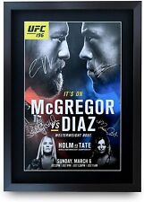 UFC 196 Programme Conor McGregor Nate Diaz Holly Gifts Poster Signed Autograph