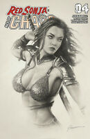 Red Sonja Age Of Chaos 4 Dynamite 2020 Shannon Maer Sketch Trade Variant GGA